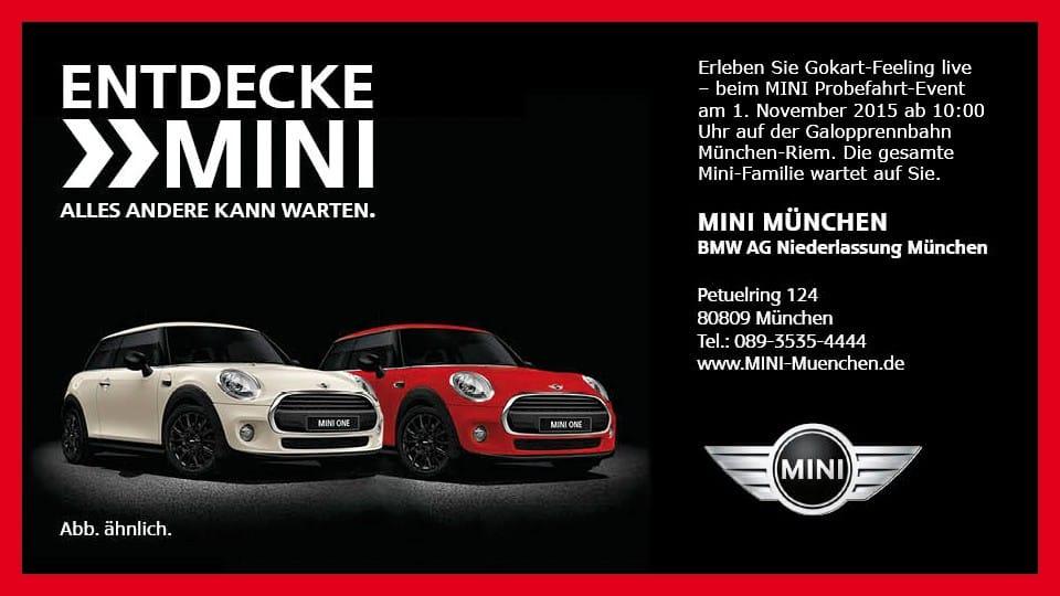 MINI zu Gast in München-Riem