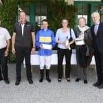 Siegerhrung für Yasmin Almenräder & Adrie de Vries mit Hr. Kurth