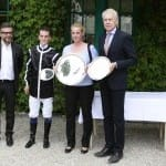 Antoine Coutier und Yasmin Almenräder bei der Siegerehrung