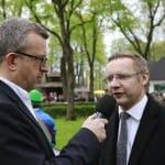 Präsident des Kölner Rennvereins Eckhard Sauren (re)