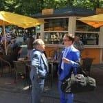 Andreas Suborics und Mario Hofer beim Fachsimpeln