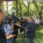Pressekonferenz für Klaus Allofs im Führring