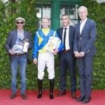 Siegerehrung für Jean-Pierre Carvalho für Spirited